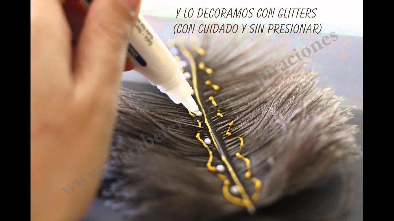 Manualidades sencillas adornos decorativos con plumas de for Plumas para decorar