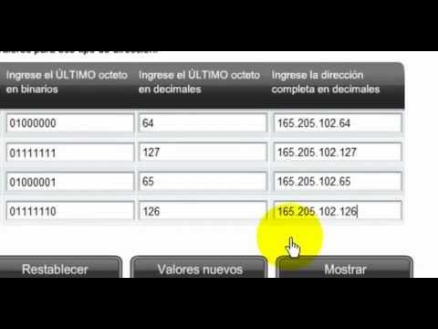 Cálculo de las direcciones IP de red, broadcast y host