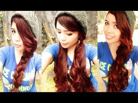 Quick And Easy Hairstyle For Beanies Curly Version YouTube