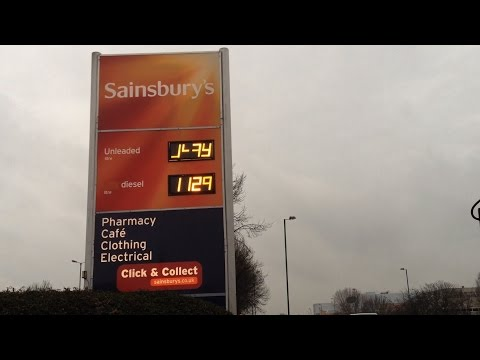 Fuel Prices Dropping Fast! (Sainsbury's)