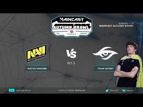 🤠Dendi vs Navi [RU] Natus Vincere vs Team Secret | Bo3 | Maincast Autumn Brawl by @Tekcac