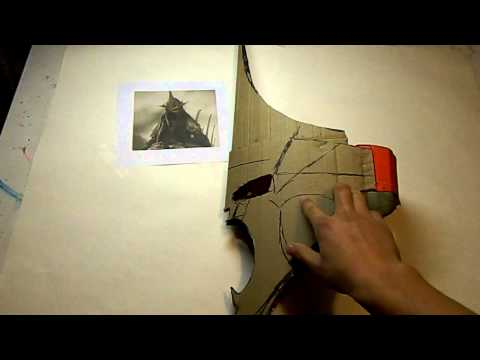 Witch king costume, making the helmet part 1