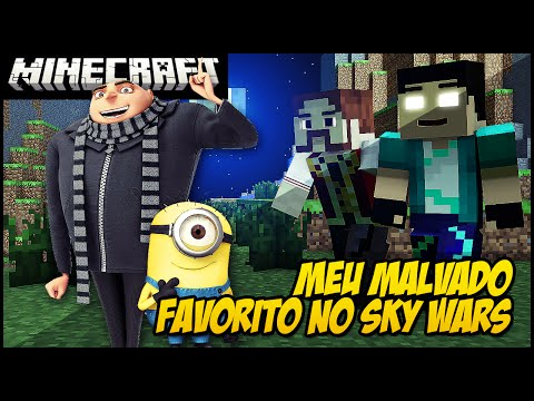 Meu Malvado Favorito No Minecraft!! (sky Wars) video