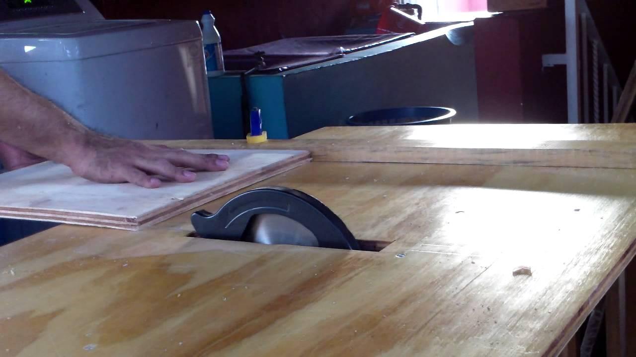 Sierra de mesa casera con sierra circular truper youtube for Mesa fresadora casera