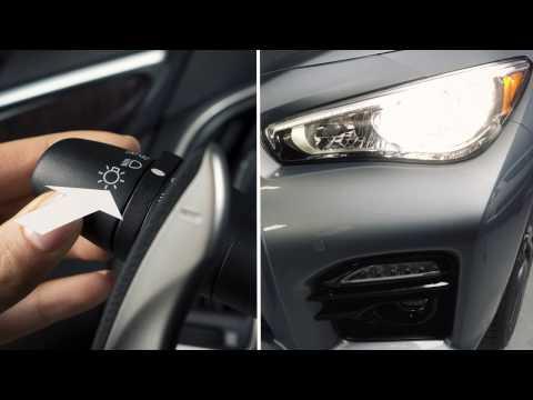 2014 Infiniti Q50 HEV -  Headlights and Exterior Lights