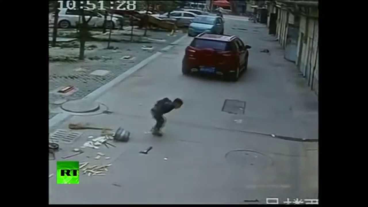 Man Getting Hit By Car Gif