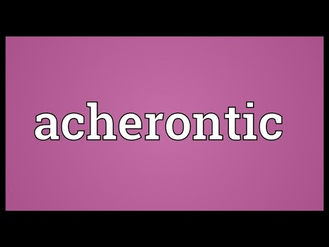 Header of Acherontic