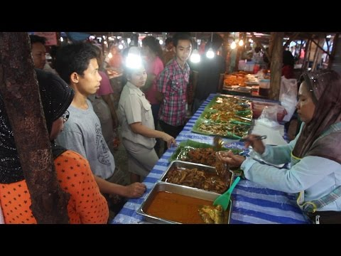 Street Food in Thailand. Food shopping at a market in Krabi Thailand. Thai Food
