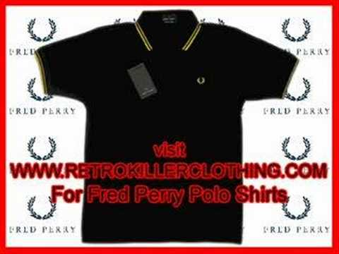 Fred Perry Polo Shirt Indie/Mod/Emo (Stock Video) Video