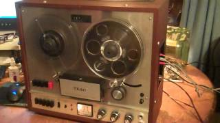 TEAC A-1500-W Reel to Reel with Auto Reverse. Serviced and working nicely.