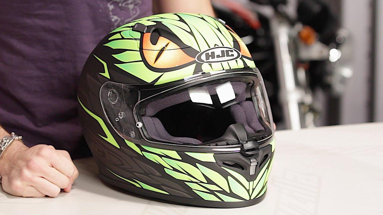 HJC FG 17 Lorenzo Mamba Helmet Review at RevZilla.com - YouTube