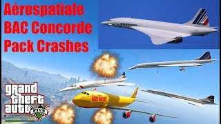 GTA V: Aérospatiale–BAC Concorde Plane Best Longer Crash Compilation