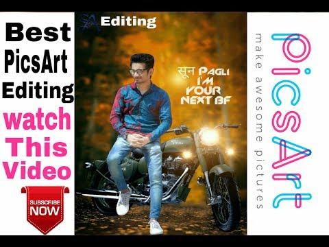 PICSART CB MANIPULATION EDITING TUTORIAL BY PICSART| BEST EDITING VIDEO|Bullet bike editing tutorial