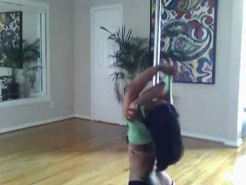 Copy of beautiful booty erotic pole dancer twerking
