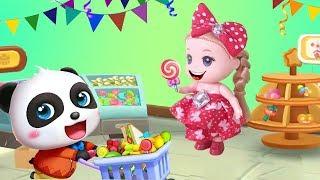Đồ chơi trẻ em BÚP BÊ BABY TỔ CHỨC BỮA TIỆC CÙNG GẤU TRÚC THẬT VUI Trò chơi bé Na