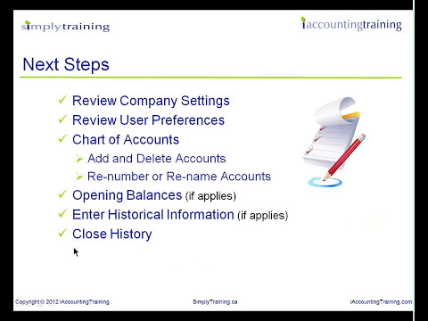 Sage Simply Accounting 2012 Creating a Company