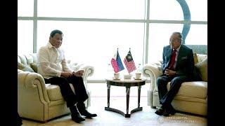 Defense, terrorism top agenda of Duterte-Mohamad meeting