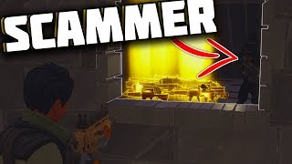 """""""Free Gun Giveaway"""", SCAMMER GETS SCAMMED (He Gets Mad) - Fortnite Save The World Scammer Exposed!"""