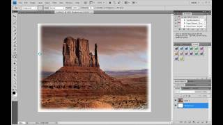How to feather an image in Photoshop CS4/CS3