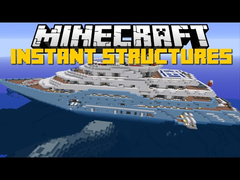Minecraft: INSTANT STRUCTURES MOD (Star Wars Spaceships, Airports & More) Mod Showcase
