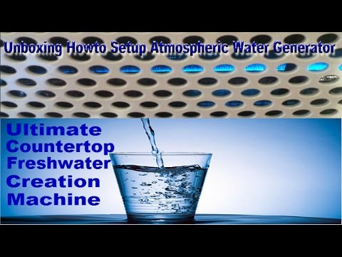 water from humidity machine