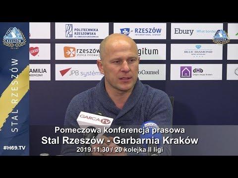 #H69.TV |KONFERENCJA| Stal Rzeszów - Garbarnia Kraków |2019.11.30|