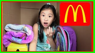 I MAILED MYSELF to Ryan ToysReview and it WORKED! It Gone WRONG to McDonalds Toys - skit (FunTV )