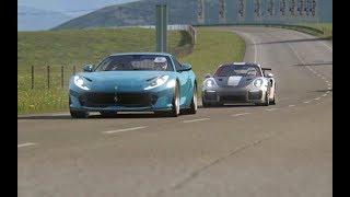 Battle Porsche 911 GT2 RS '18 vs Ferrari 812 Superfast at Highlands