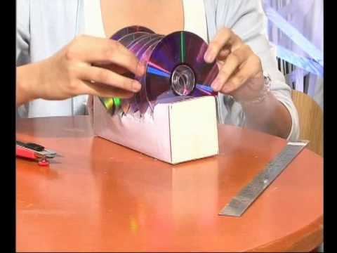 How To Make A Cd Rack Out Of Newspaper And Tape