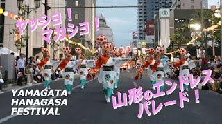 【日本の祭り】街を行く華やかな伝統のパレード!山形花笠まつり【夏祭り】
