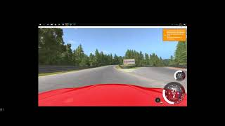 beamng.  driving on a race track