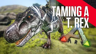 ARK: Survival Evolved - Taming a T Rex (LvL 26) under 2 hours!