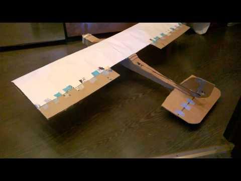 Как сделать самолет из картона чтобы хорошо летал