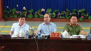 Đồng chí Nguyễn Thiện Nhân chỉ đạo khắc phục hậu quả vụ cháy chung cư Carina Plaza