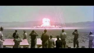 People Watching Nuclear Bomb Test Explosions