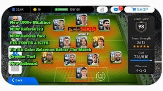PES 2018 Mobile V2.3.3 Patch New Menu Mod Pes 2019 Mobile
