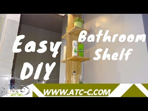 How to create a nice and simple floating bathroom shelf / DIY