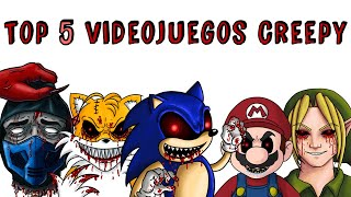 TOP 5 VIDEOJUEGOS CREEPY: SONIC.EXE BEN DROWNED SUPER MARIO TAILS DOLL MORTAL KOMBAT | Draw My Life