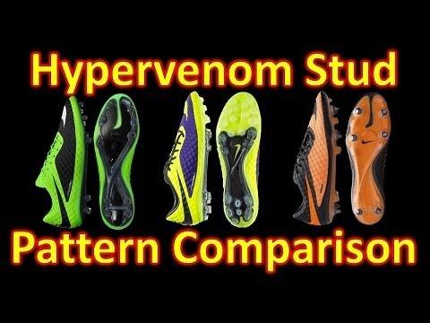 Nike Hypervenom Phantom Stud Pattern Comparison - SG Pro vs FG vs AG