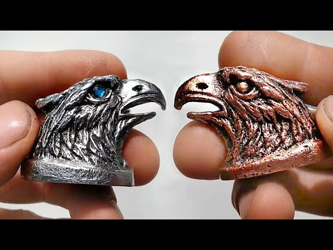 Простой способ, как отлить навершие из алюминия для ножа (орел)