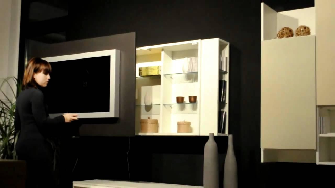 Mobile porta tv apribile con contenitori porta cd dvd di astor youtube - Mobile porta detersivi ...