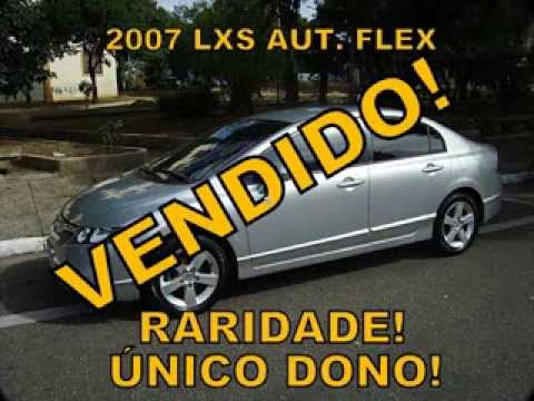 CIVIC LXS AT FLEX 2007 RARIDADE R$ 49.900.00