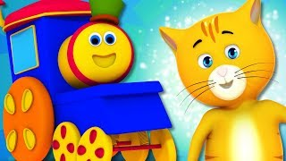 The Pussy Cat Song | Bob The Train | Nursery Rhymes For Children