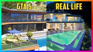 Finding Michael's Mansion, Franklin's Hillside House & Trevor's Trailer IN REAL LIFE! (GTA 5)