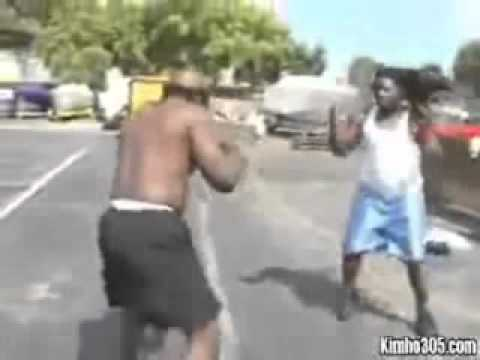 kimbo slice vs one guy (KO)