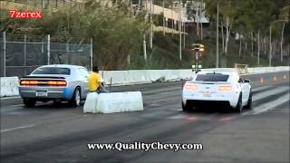 2012 Chevrolet Camaro ZL1 vs 2008 Dodge Challenger SRT8 Racelegal.com 9-6-2013