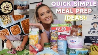 MEAL PREP WITH ME! QUICK, EASY MEALS FOR 2 WEEKS SELF ISOLATION  & FOOD HAUL | EmmasRectangle