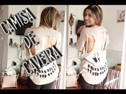 DIY ✂ Como fazer: Camisa de Caveira