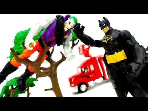 #СУПЕРГЕРОИ. #Бэтмен против Джокера. Видео для мальчиков: #Джокер и Бэйн устроили ПОЖАР