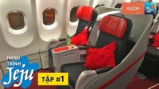 KHÁM PHÁ JEJU #1: Trải nghiệm ghế giường phẳng AirAsia X (Premium Flatbed) | Yêu Máy Bay